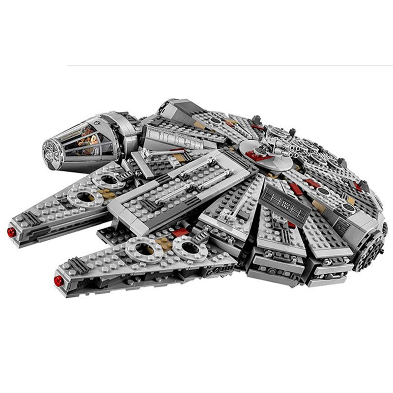 1381pcs Diy Star Wars Millennium Falcon Outer Space Space Ship Building Blocks Compatible With Legoingly Brick Toys For Children