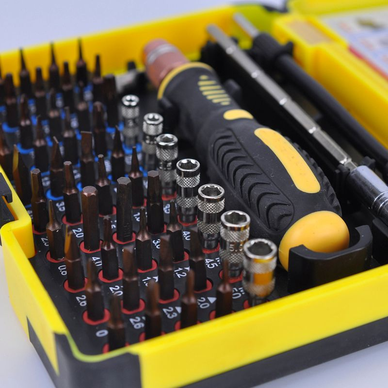 Interchangeable Magnetic 55 in 1 Multipurpose Precision Screwdriver Set Repair Tools for <font><b>Cellphone</b></font> PC