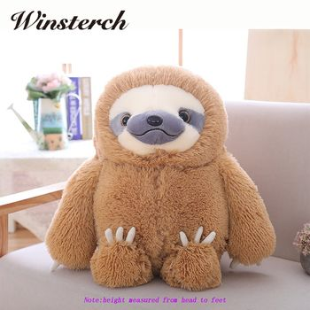 Simulation Sloth Baby Doll Lifelike Sloth Plush Toys Stuffed Dolls Kids Toys Lovely Doll Girlfriend Best Gifts Brinquedos WW36