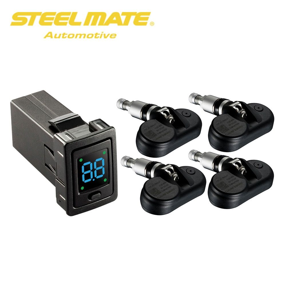 Steelmate TP-73 Car TPMS Tire Pressure Monitor System 4 Internal Sensors with OE-FIT LED Display for Toyota