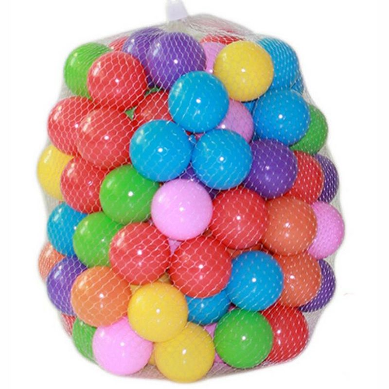 100pcs/lot Eco-Friendly Colorful Soft Plastic Water Pool Ocean Wave Ball Baby Funny Toys Stress Air Ball Outdoor Fun Sports kids