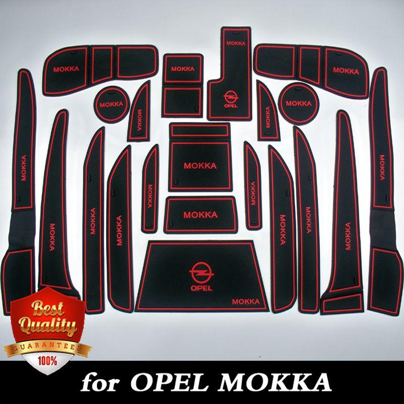 MOKKA Cup Mat/Pad Car Accessories Gate Slot Pad door pad luminous Non-Slip Interior door pad/cup mat fit for opel mokka