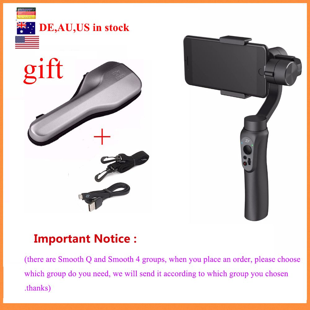 (can ship from Germany,AU,US) Zhiyun Smooth Q Handheld Gimbal Stabilizer for iPhone 7 6s Plus S7 S6,and sale Zhiyun Smooth 4