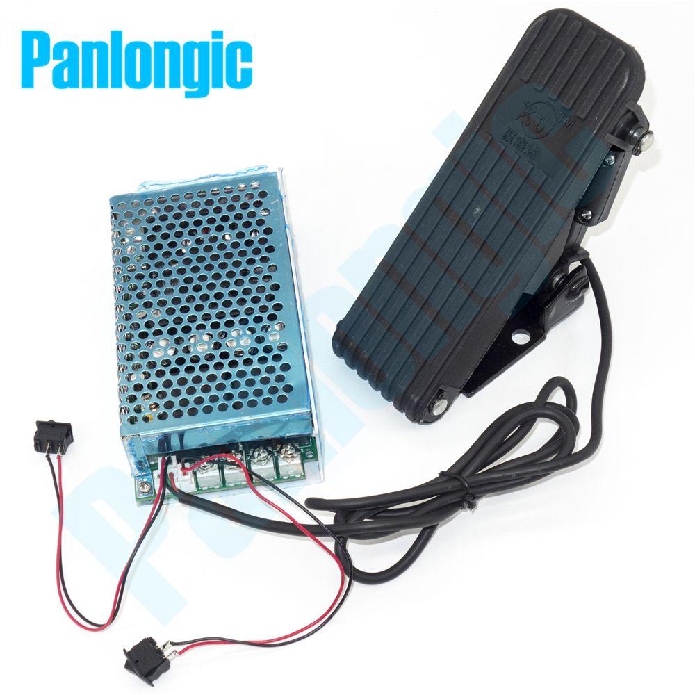 Panlongic Footboard Hall Throttle 100A 5000W Reversible PWM DC Motor Speed Controller 12V 24V 36V 48V Soft Start Foot Pedal