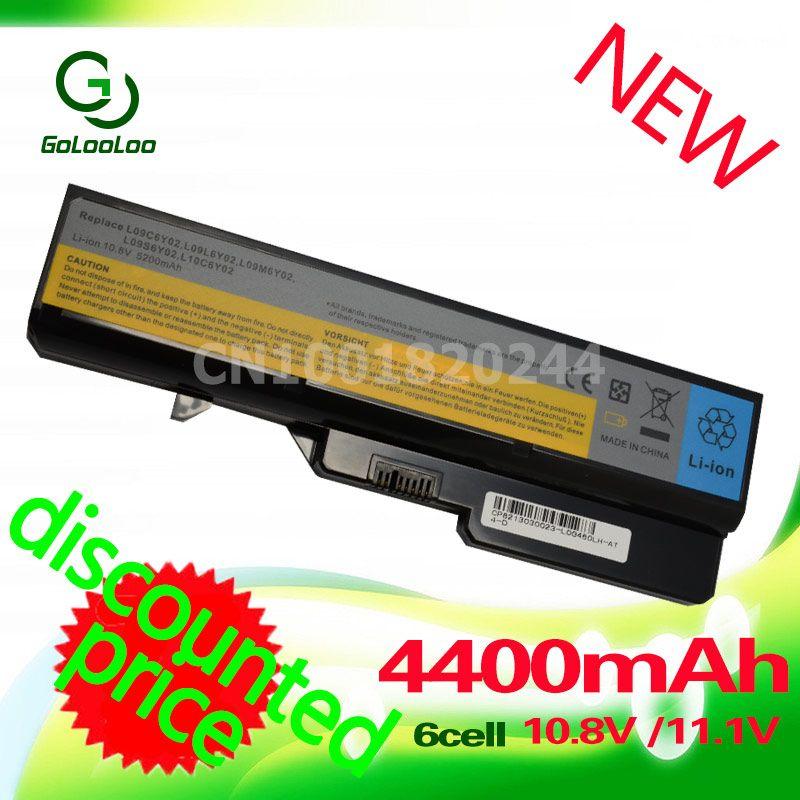 <font><b>4400mAh</b></font> Laptop Battery For Lenovo IdeaPad B470 Z370 G460 b570 b570e G560 G570 V370 V470 Z460 Z560 Z465 Z570 LO9S6Y02 L10P6Y22