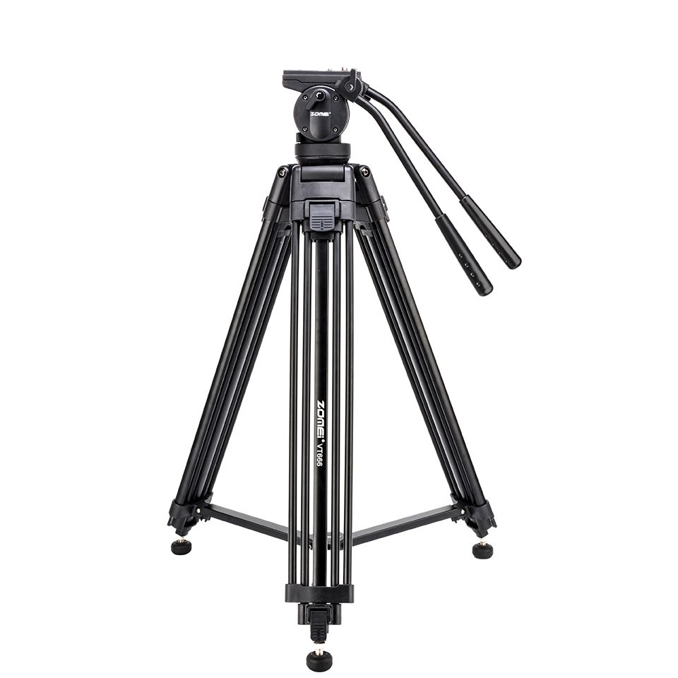 Zomei VT666 Tripode Professional Heavy Duty Stable Tripod Stativ With 360 Degree Panoramic Fluid Head For Camera DV Camcorder