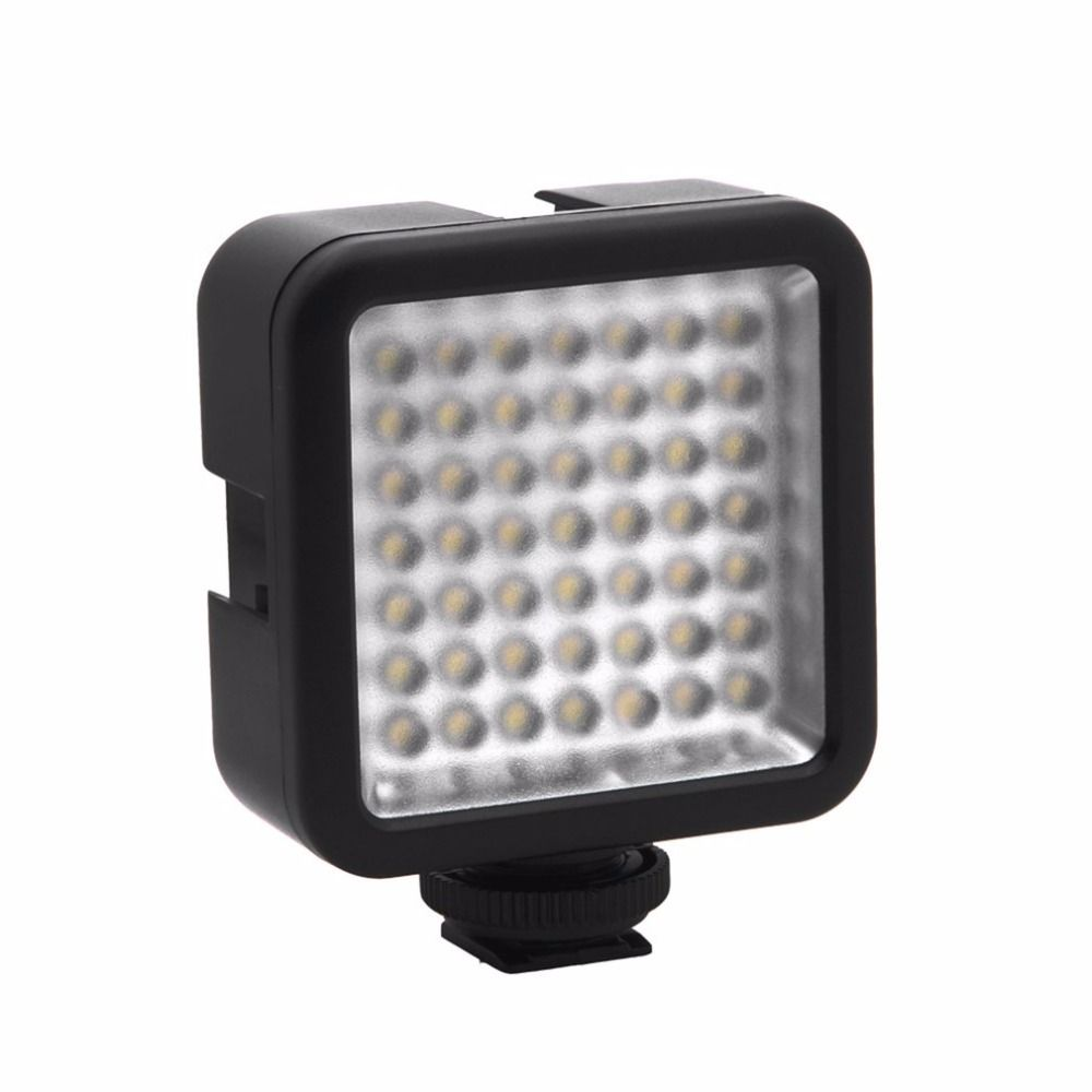49 LED Brightness Photography Lamp Flash Fill Light Video Light Lamp For Mobile Phone Action Camera