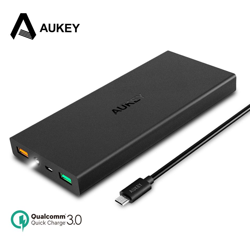 AUKEY PowerBank 16000mAh Pover Bank Quick Charge 3.0 External Battery Pack for Xiaomi Bateria Samsung Mobile Phone Power Bank