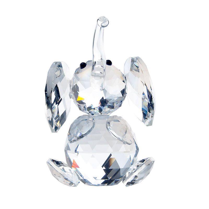 H & D 2.3 pouces Crystal Clear Elephant Figurines Presse-papiers Artisanat Art & Collection Souvenir D'anniversaire De Noël Cadeaux De Mariage Décor