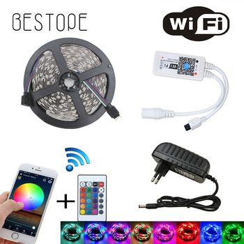 WIFI RGB LED Light Strip SMD 2835 15 M 20 M RGB bande DC12V Étanche RGB ruban diode 5 M 10 M led Flexible et WIFI contrôleur