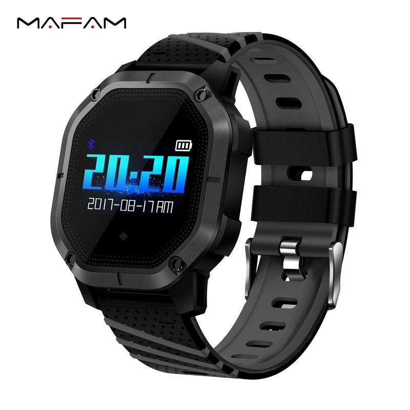 MAFAM K5 Heart Rate Tracker 1.0 inch CLED Smart Wristband IP68 Professional Waterproof Band Changeable Passometer Smart Bracelet