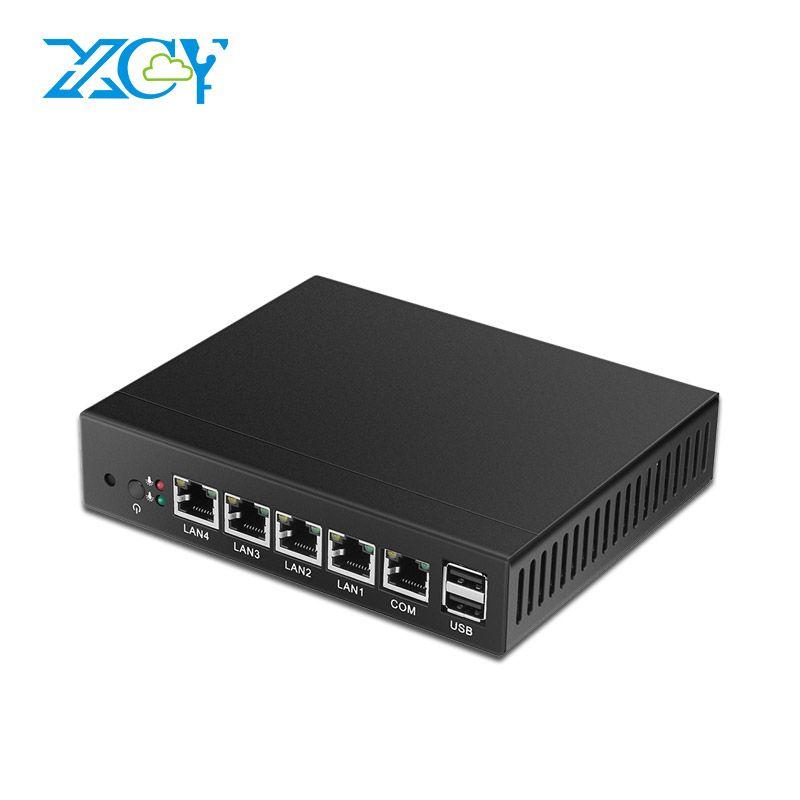 XCY Mini PC Celeron J1900 J1800 Intel 82583 V NIC 4 * Gigabit LAN RJ45 Consel 2 * USB VGA routeur souple pare-feu exécuter Pfsense Sophos