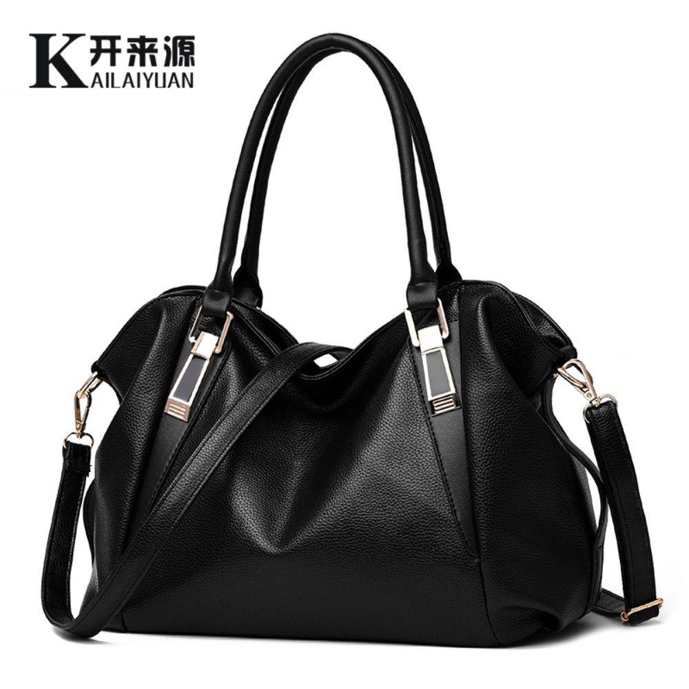 KLY 100% Echtem leder Frauen handtaschen 2018 Neue Damen klassische lässige mode Umhängetasche frau Frauen Messenger Bags