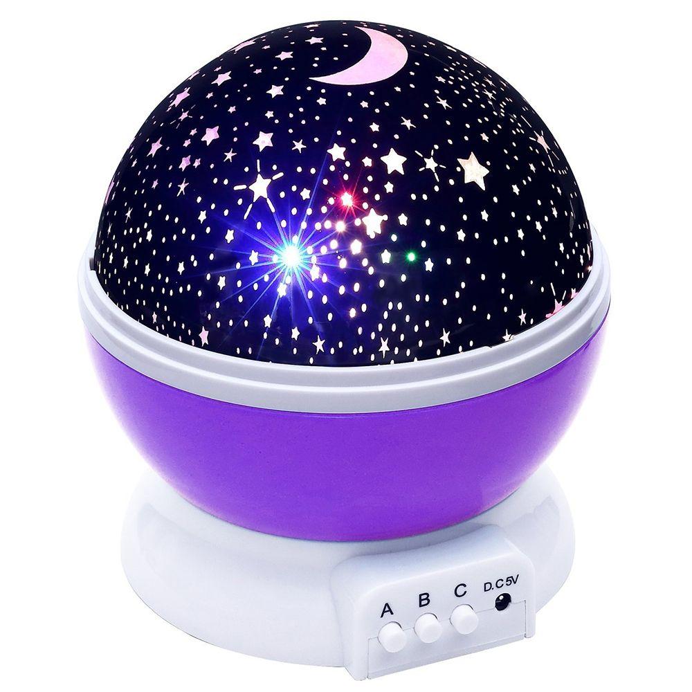 Lightme Étoiles Étoilé Ciel LED Night Light Projecteur LED Lune Lampe nouveauté Table Lampe de Nuit Batterie USB Lumière de Nuit Pour Enfants Cadeaux