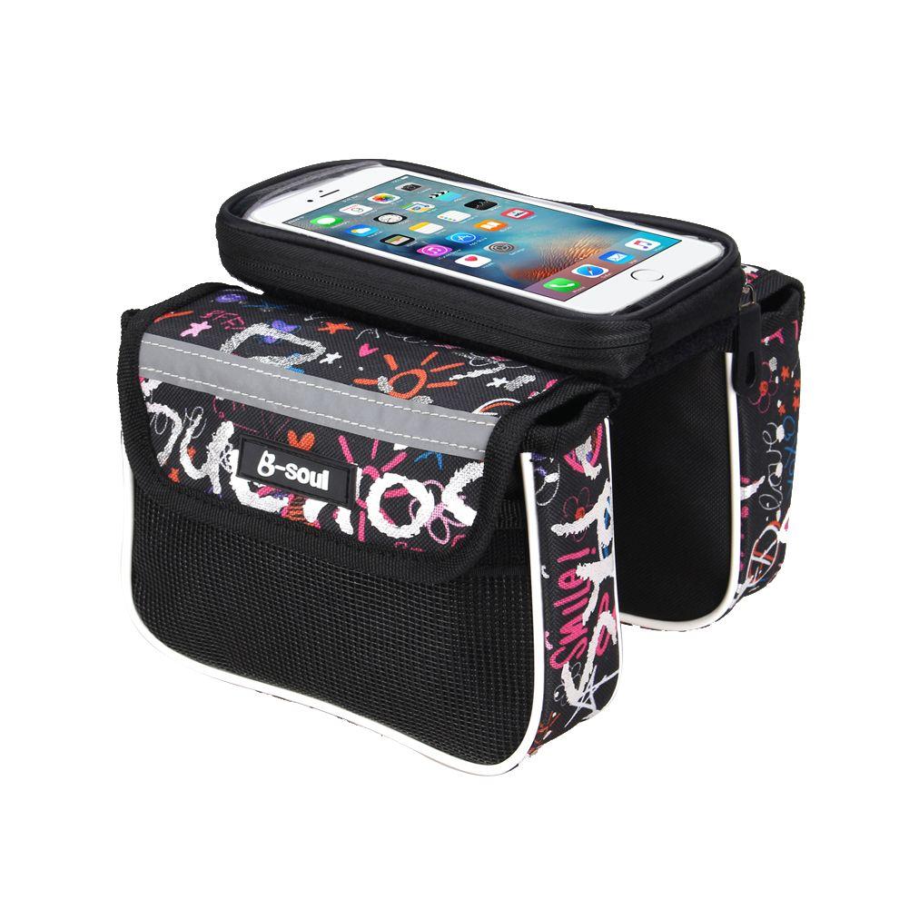 Wasserdicht Touch Screen Radfahren MTB Rennrad Fahrrad Vorne Bag Oberrohrrahmentasche Pannier Doppeltasche für 5,5