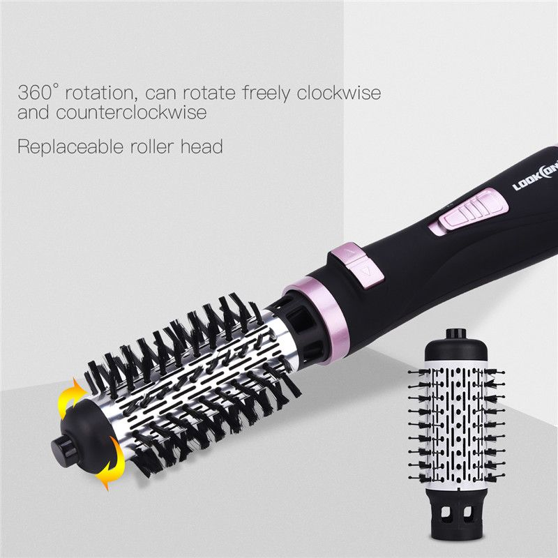 Professional Electric Hair Curler Roller Curling Iron Brush Automatic Rotating Hair Dryer Comb 2 In 1 Hair Styler Styling Tools