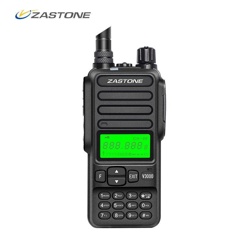 Zastone V3000 8W high power 4000mah handheld walkie talkie portable radio UHF Two Way Ham Radio Communicator HF Transceiver Sale