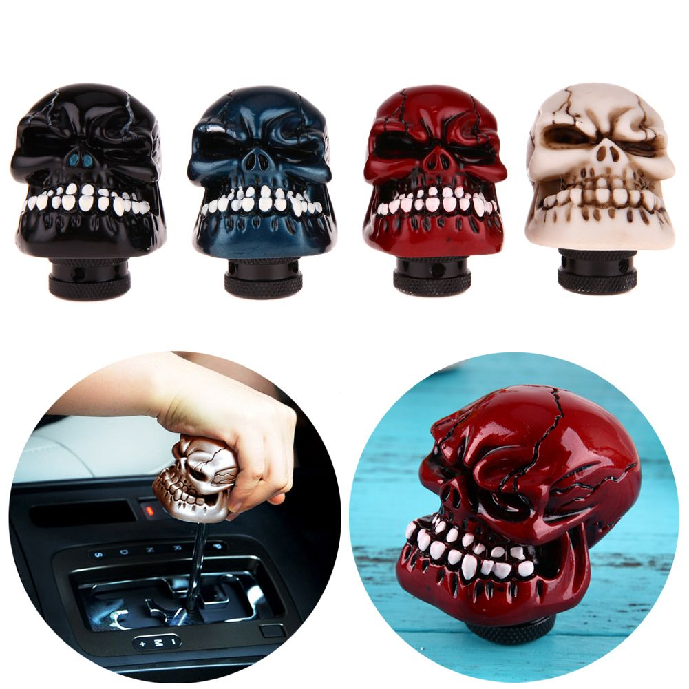 Car accessories Fashion Skull Head Car Gear Shift Knob Modification Car Interior Accessory Car Hand Brake Covers Case Hot Sale