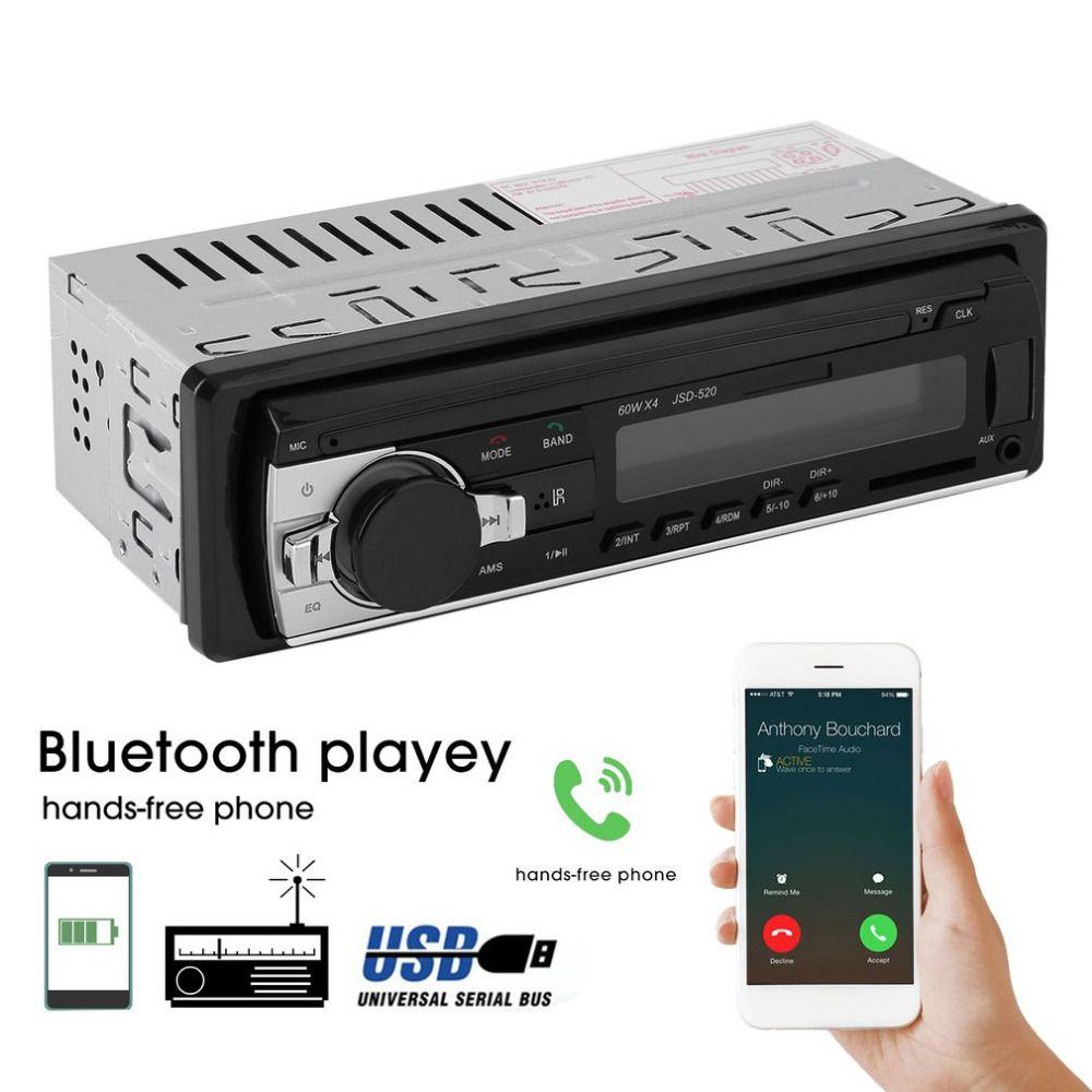 Универсальный jsd-520 автомобиля Радио стерео плеера Bluetooth телефон mp3 Дистанционное управление 12 В Аудиомагнитолы автомобильные автомобиль му...