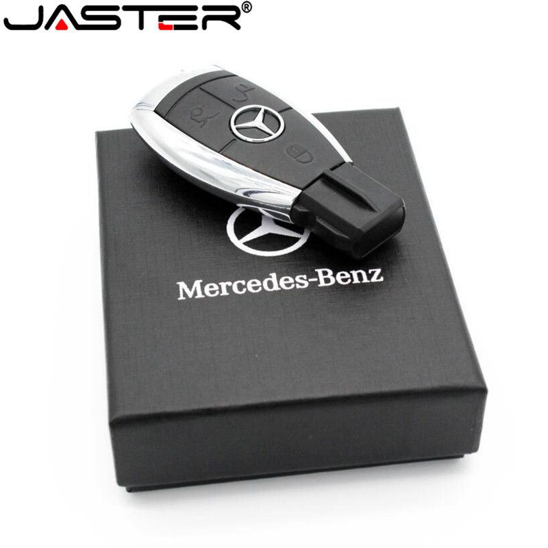 JASTER hot fashion creative plastic U disk Mercedes Car key USB+BOX USB 2.0 4GB / 8GB / 16GB / 32GB / 64GB memory stick