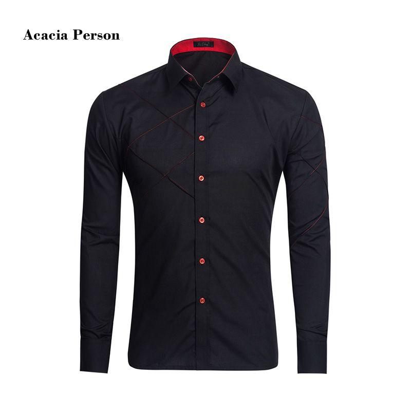 2017 New Slim Fit Casual Men Shirt Classical Solid color Shirt Stylish Long Sleeve Camisa Masculina Wedding Shirts Man Camisas