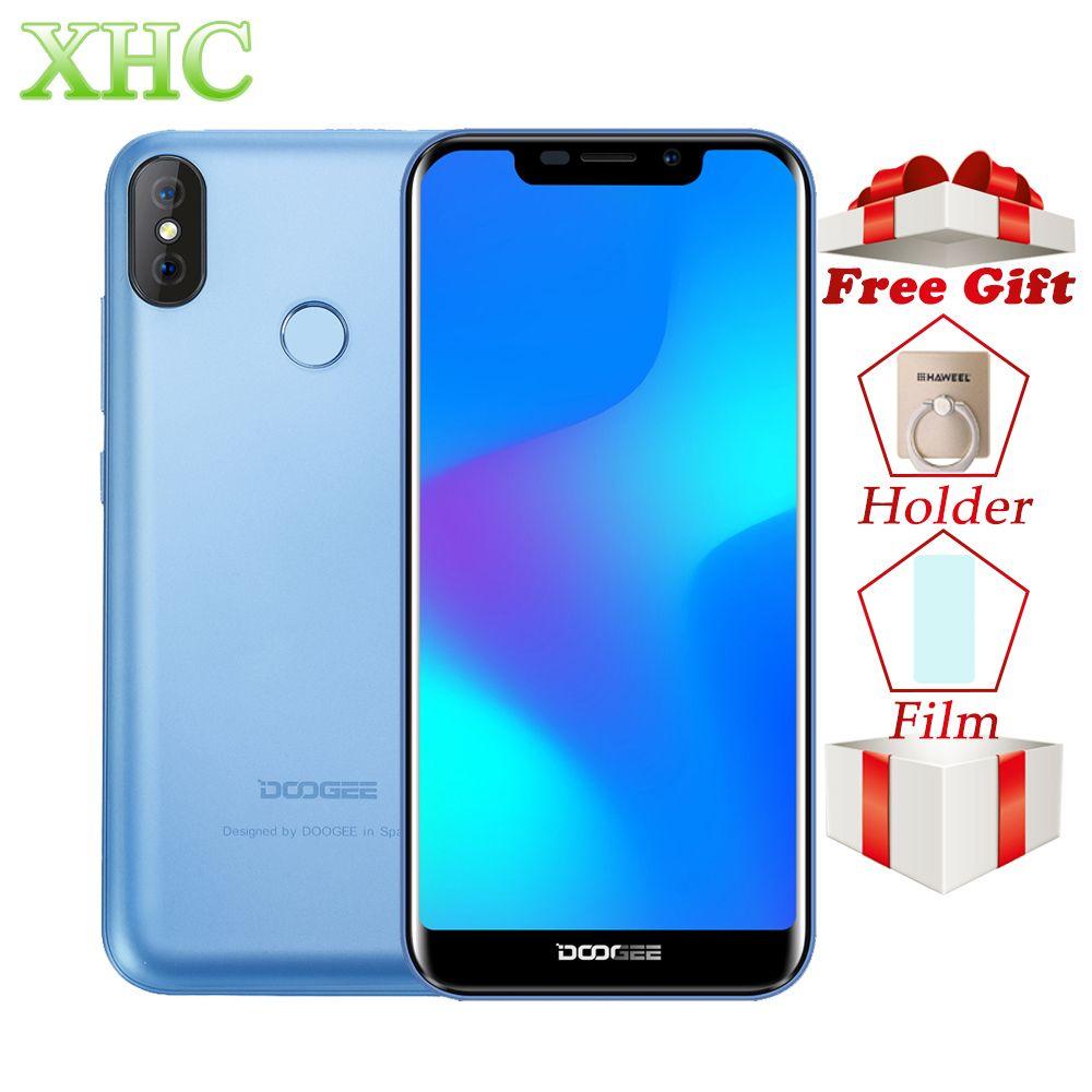 DOOGEE X70 Face Unlock 5.5'' Smartphone MTK6580 Quad Core 2GB RAM 16GB ROM Dual Rear Camera Android 8.1 Dual SIM 3G Mobile Phone