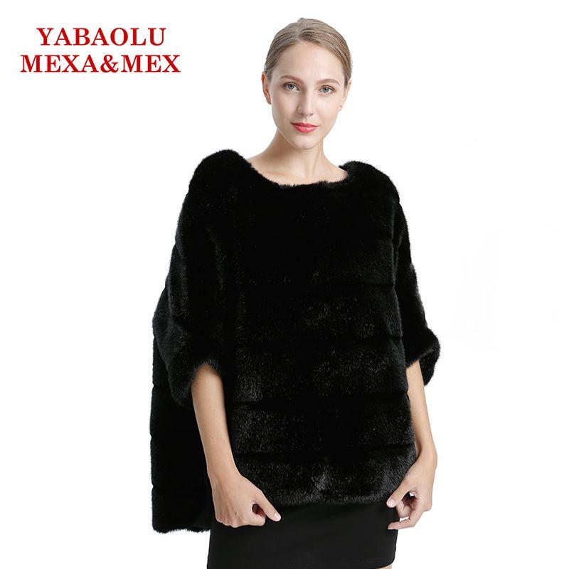 Faux Nerz Frauen Mantel Herbst Winter Mantel Schwarz Faux Pelzmantel Mode Fledermaus shirt Pullover Jacken Frauen Kleidung Oberbekleidung