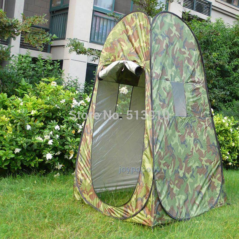 Portable intimité douche toilette Camping Pop Up tente Camouflage/UV fonction extérieure dressing tente/photographie tente
