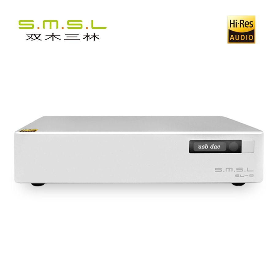 SMSL S.M.S.L SU-8 Hi-Res DAC ES9038Q2M*2 DSD 64/512 PCM 44.1/768kHz USB/Optical/Coaxial Decoder
