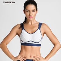 SYROKAN Women's High Impact Support Bounce Control Workout Plus Size Sports Bra