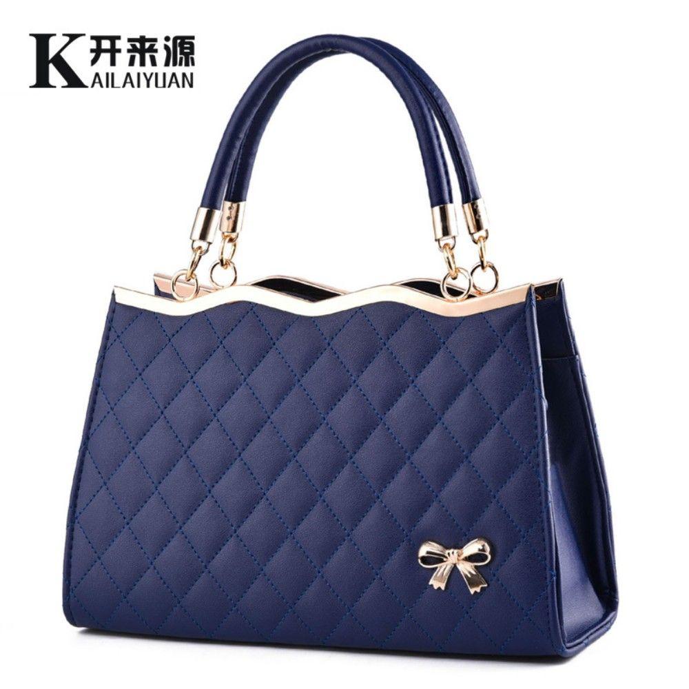 KLY 100% Genuine leather Women handbag 2018 New Bow fashion handbag Crossbody Shoulder Handbag women messenger bags