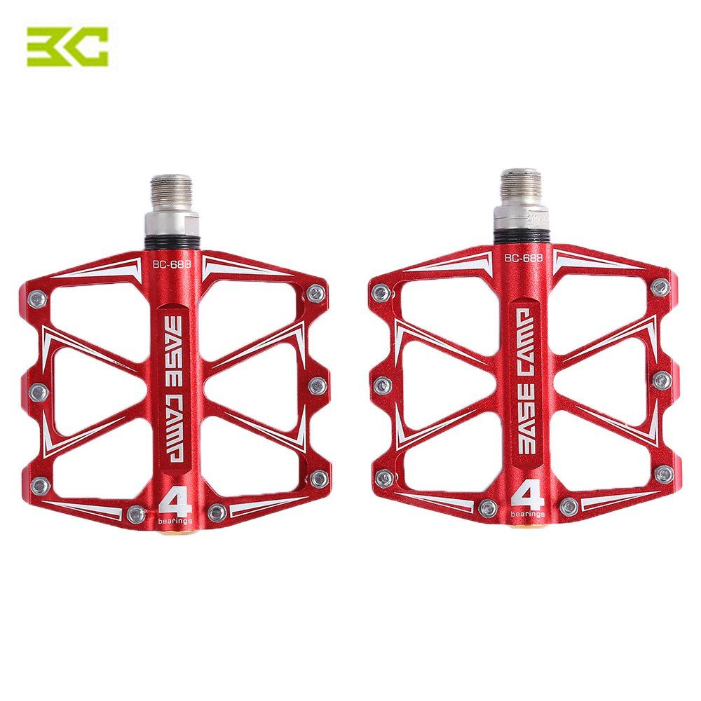 BaseCamp BC - 688 Mountain Bike Bicycle Pedal MTB Flat Pedals Aluminum Alloy 4 Ball Bearings Ultralight Bicycle Accessory Parts