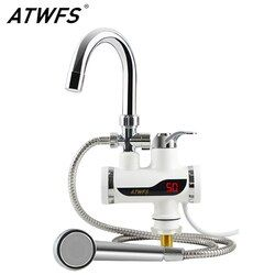 Atwfs calentador de agua del grifo 220 V cocina calentador de agua instantáneo ducha instantánea calentadores de agua sin tanque calefacción