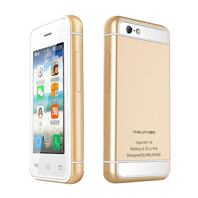 Ultra slim mini étudiant intelligent téléphone play store android 5.1 MTK6580 quad core 512 + 8G 16G 3G WCDMA smart mobile téléphone P017
