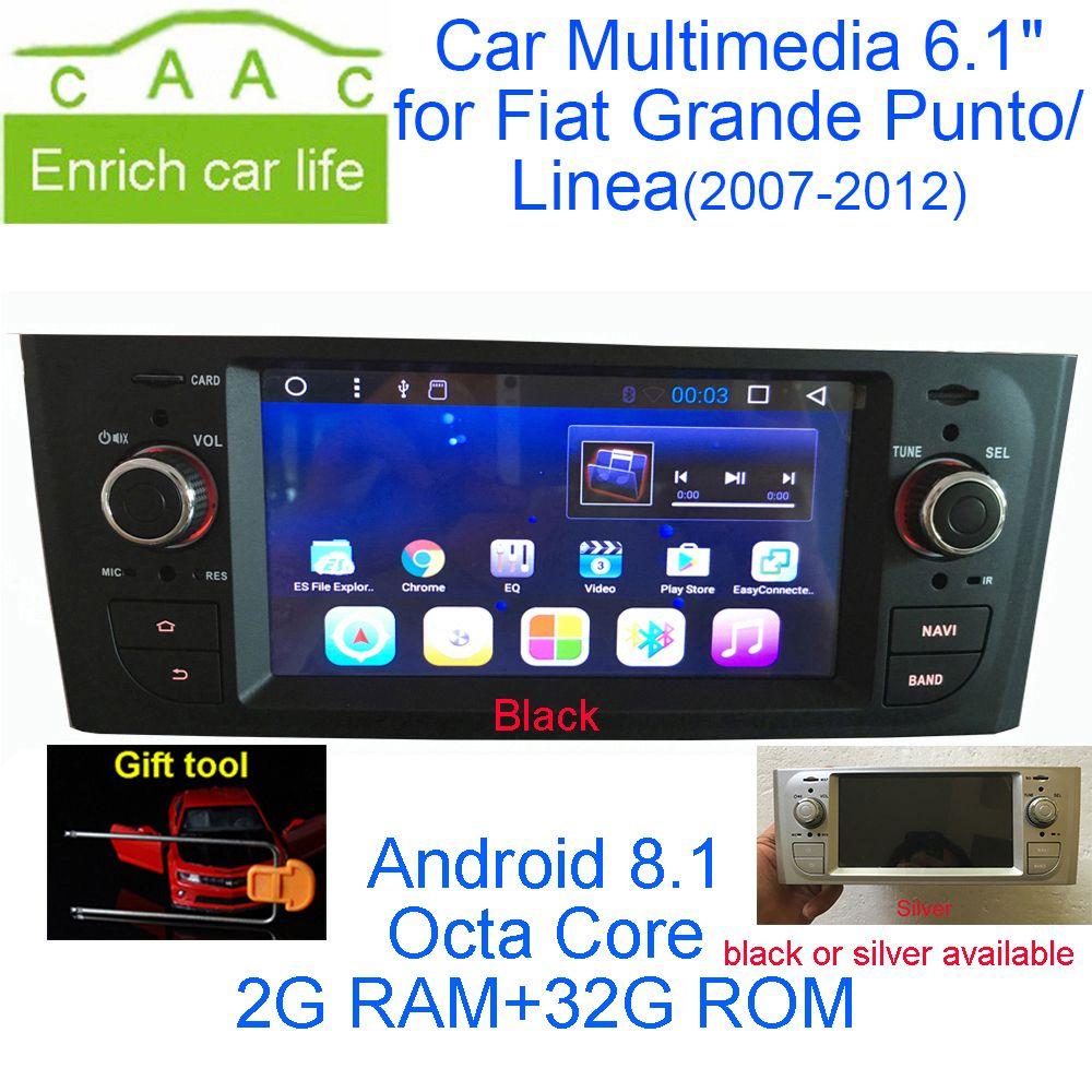 Neueste Android 8.1 Octa Core GPS Navigation Stereo 6,1 Auto DVD Multimedia für Fiat Grande Punto/Linea 2007- 2012 mit Radio/RDS