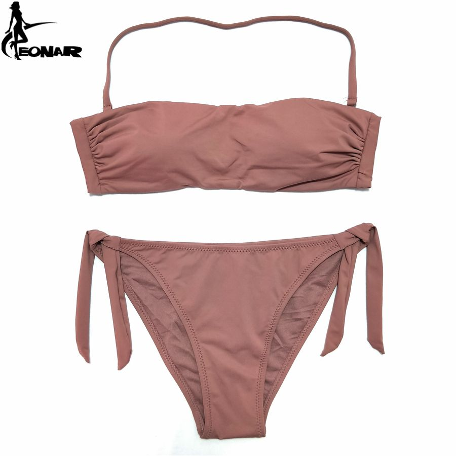 EONAR Bandeau Bikinis 2018 Women Swimsuit Push Up Brazilian Bikini Set Swimwear Female Bathing Suits Maillot De Bain <font><b>Swimming</b></font>