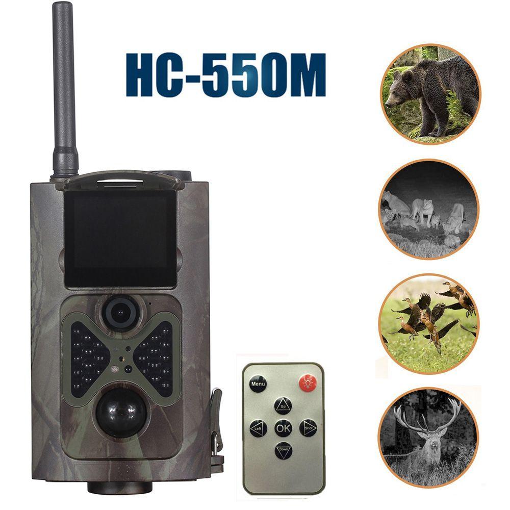 HC550M Jagd Kamera 2G GPRS MMS 16MP 1080 P 120 Grad PIR 940NM Infrarot Wildlife Trail Kameras