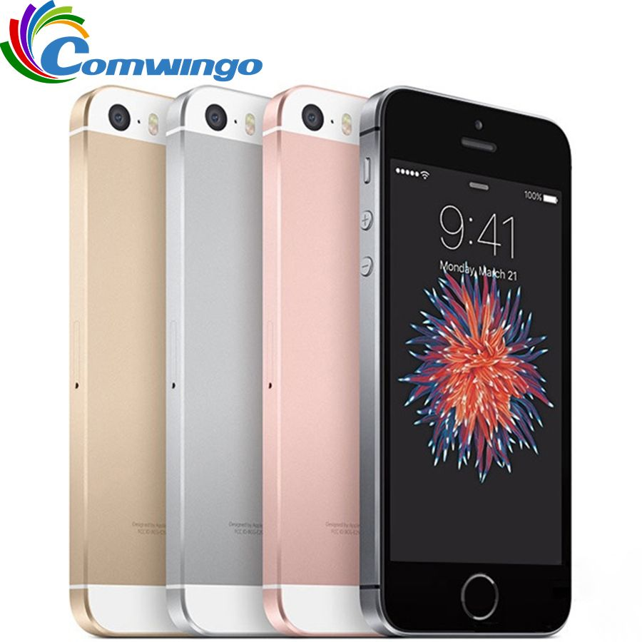 Original Unlocked <font><b>Apple</b></font> iPhone SE Cell Phone RAM 2GB ROM 16/64GB Dual-core A9 4.0 Touch ID 4G LTE Mobile Phone iphonese ios