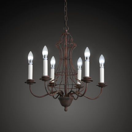 Loft Style Iron Vintage Pendant Light Fixtures American Retro Candlestick Lamp Dining Room Hanging Droplight Indoor Lighting