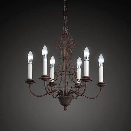 Loft Style Iron Vintage Pendant Light Fixtures American Retro Candlestick Lamp Dining Room Hanging Droplight Indoor Lighting