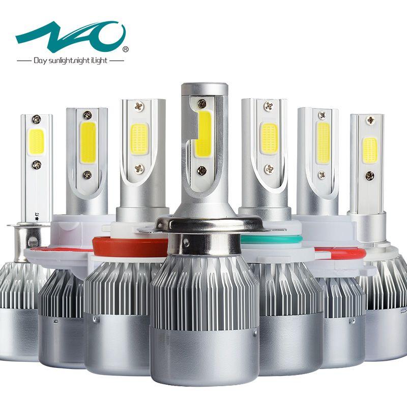 NAO auto h7 led car bulb h4 led light 12V h11 headlight h1 lamp h3 hb4 9006 9005 hb3 h27 880 881 h8 h9 hb2 9004 9007 9008 36W T7