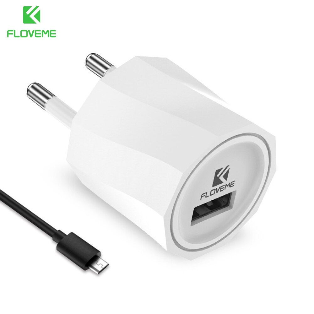 FLOVEME EU US Plug Phone USB Charger Travel Wall Adapter For iPhone 7 6 6S Plus 5 5S SE For Samsung Galaxy S8 Plus S7 S6 Charger