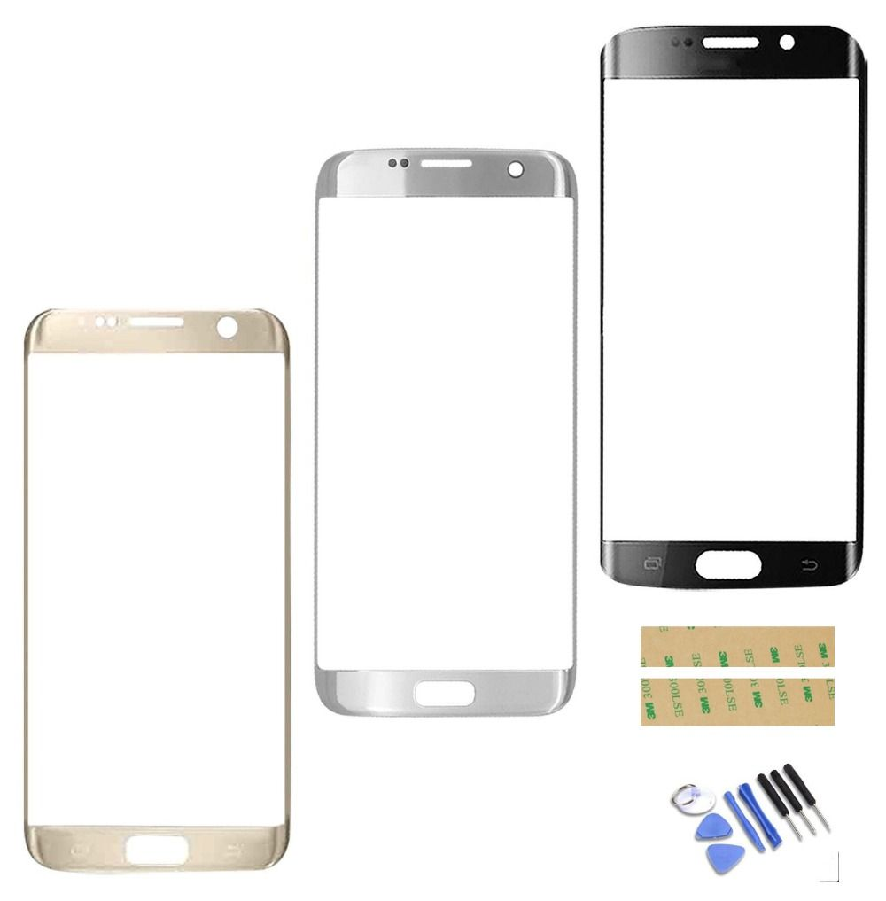 High Quality New Front Outer Glass Lens Screen Replacement For Samsung Galaxy S7 Edge G935 G935F Free tools + 3M glue