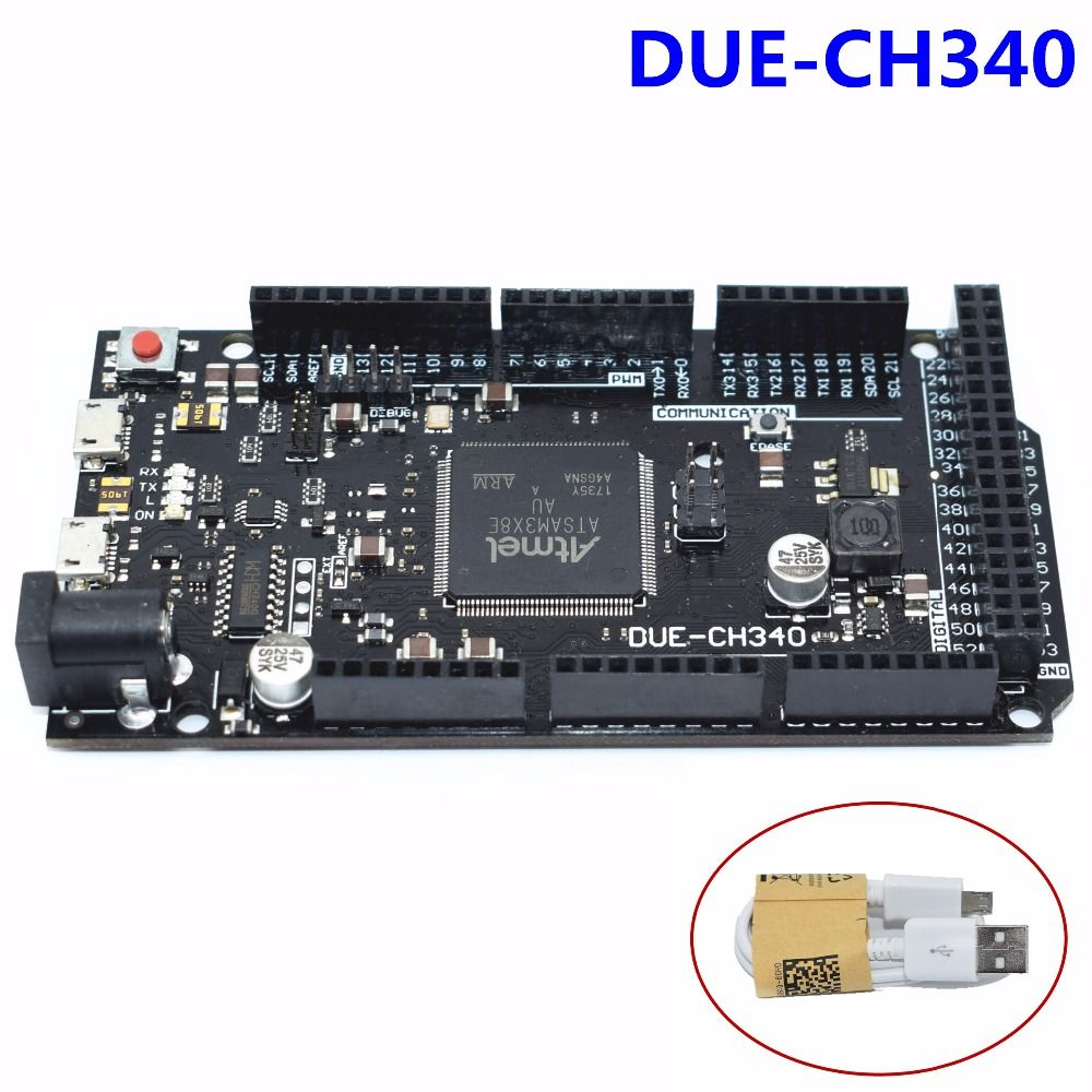 Из-за R3 доска due-ch340 для Arduino atsam3x8e ARM основные Управление доска с 1 м кабель USB