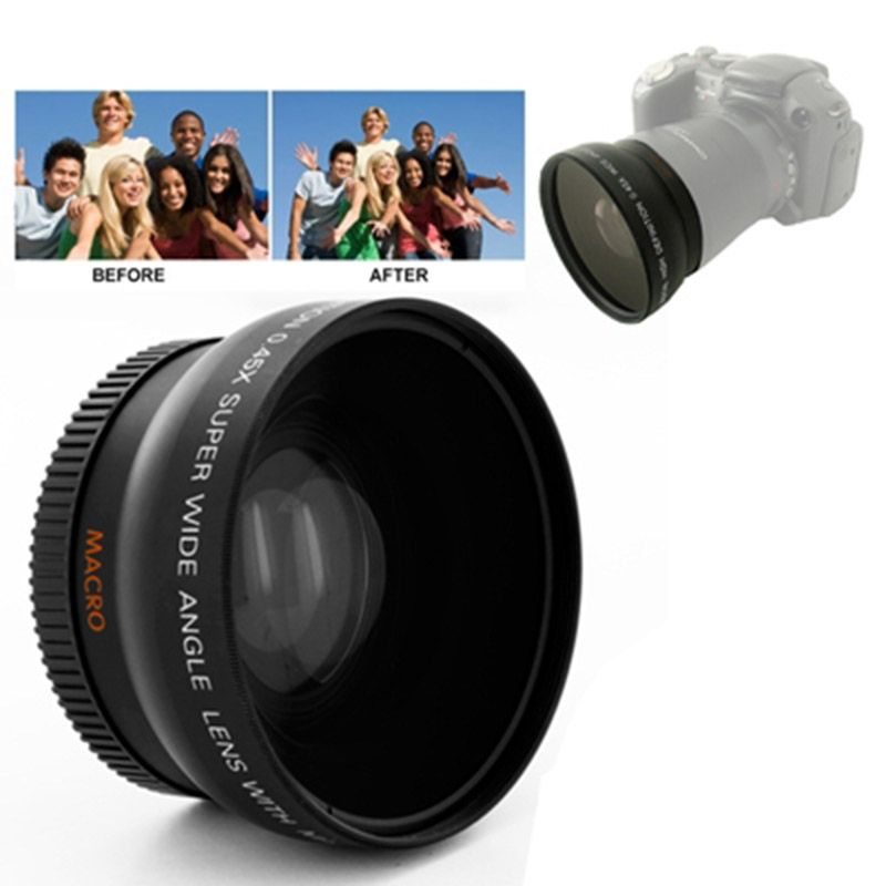 Brand New 0.45X 52mm Wide Angle Lens with Macro for Nikon Coolpix D40/ D60/ D70s/ D3000/ D3100/ D5000