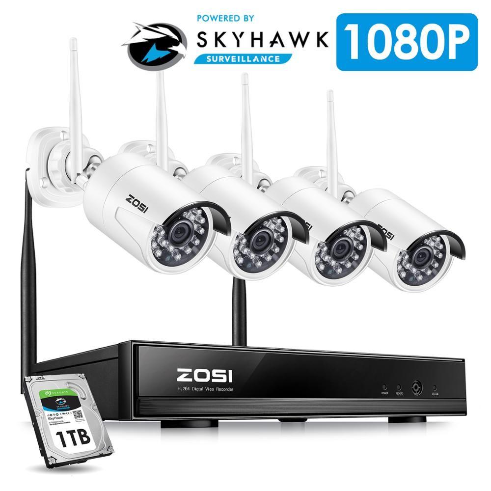 ZOSI 4CH 1080 P HDMI Wifi NVR 2.0MP Sicherheit Kamera System IR Im Freien Wasserdichte CCTV Kamera Drahtlose Überwachungs System