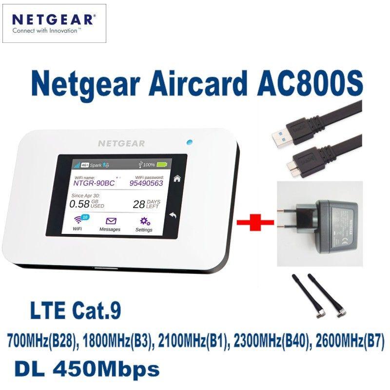 ENTSPERRT Netgear Aircard AC800S 4g LTE 450 mbps Mobile Hotspot WiFi Router