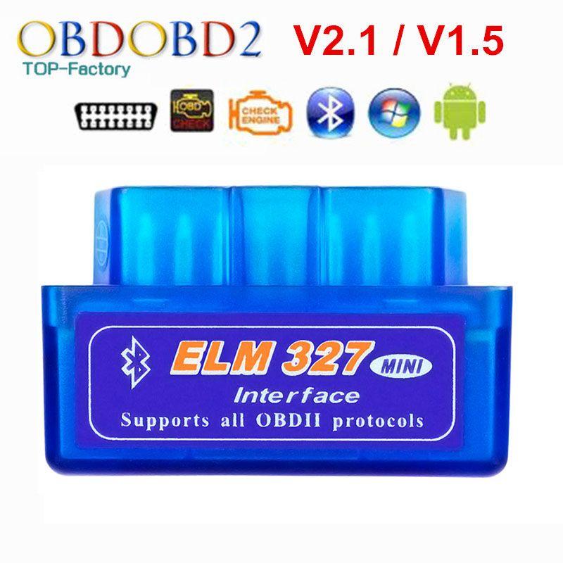 2019 Super Mini ELM327 Bluetooth V2.1/V1.5 OBD2 voiture outil de Diagnostic orme 327 Bluetooth 4.0 pour Android/Symbian OBDII protocole