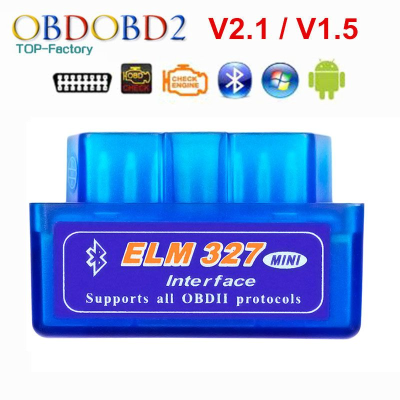 2019 Super Mini ELM327 Bluetooth V2.1/V1.5 OBD2 voiture outil de Diagnostic orme 327 Bluetooth 4.0 pour Android/Symbian OBDII protocole
