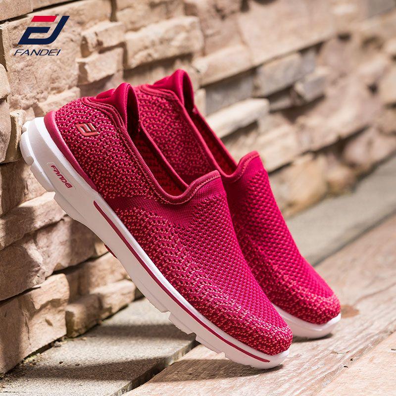 FANDEI new walking shoes women breathable mesh running shoes for women comfortable women sport shoes slip on women sneakers 2018